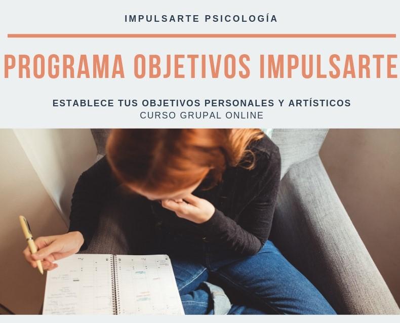 Programa Objetivos Impulsarte Psicología Marta G Garay Curso Online