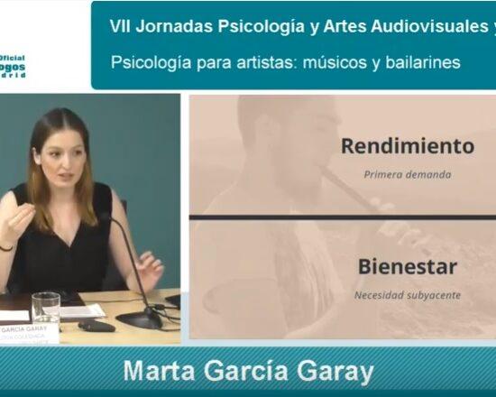 Psicología Artes Escéncias Marta G Garay