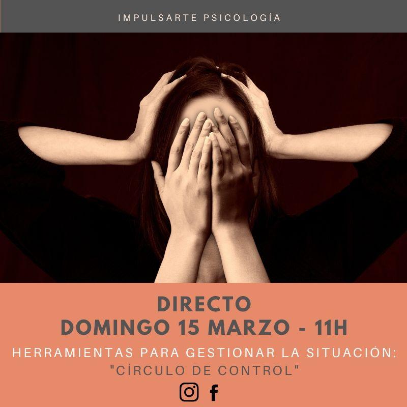 Cartel Directo Coronavirus Artes Escénicas Psicología Impulsarte Marta G Garay