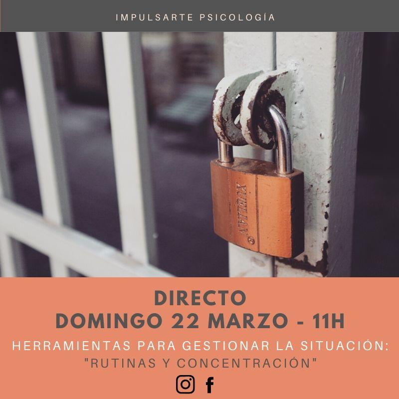 Cartel Directo Coronavirus Artes Escénicas Psicología Marta G Garay