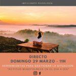 Cartel Directo Coronavirus Marta G Garay Psicología Impulsarte Mindfulness Artes Escénicas