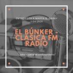 Entrevista El Búnker Clásica FM Radio COVID 19 Marta G Garay Psicología Impulsarte